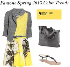 """Pantone Spring 2013 Color Trend: Lemon Zest"" by ms-mustang on Polyvore"