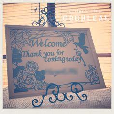 「 葉を増やしてバランス調整~All切り絵ウェルカムボード~ 」の画像|~切り絵ウェルカムボード&ハワイアン招待状~ ウェディング・ペーパーアイテム 【COCHLEAL】 |Ameba (アメーバ)