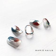 Nail Arts, Winter Nails, Nail Art Designs, Manicure, Gemstone Rings, Pearl Earrings, Nail Polish, Make Up, Wedding Rings
