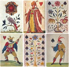 Playing cards made for King Charles I, by the Worshipful Company of Makers of Playing Cards, inlaid silk, ca. 1628