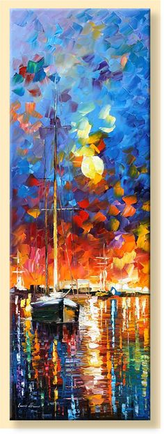 Burning Sky Limited Edition Nautical Sailboat by AfremovArtStudio