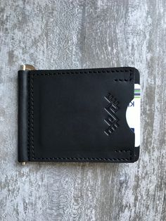 Money clip wallet, Minimalist leather wallet, Slim money clip, Black note wallet, Credit card wallet by YLARAGIS on Etsy Leather Money Clip Wallet, Slim Leather Wallet, Handmade Leather Wallet, Leather Bifold Wallet, Slim Wallet, Handmade Gifts For Men, Gifts For Dad, Minimalist Leather Wallet, Leather Laptop Backpack