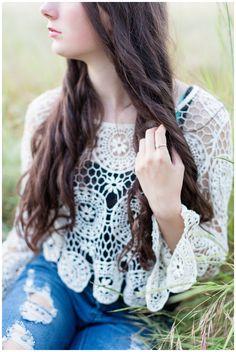 Senior Portrait Sitting in Tall Grass | Senior photos in bidwell park