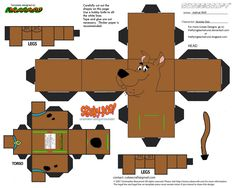 Scooby Doo Cubee by TheFlyingDachshund on DeviantArt Scooby Doo, Imprimibles Toy Story Gratis, Diy And Crafts, Crafts For Kids, Looney Tunes Cartoons, Paper Models, Paper Toys, Kids Learning, Templates