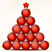 How to Create Christmas and New Year Greeting Card with Shiny Red Balls - Photoshop Tutorial - Pxleyes.com