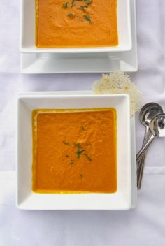Roasted carrot ginger soup. -   We loved this. Super easy and filling. Bonus little people adore it. Great way to sneak in veggies. Also a great soup to pressure can.