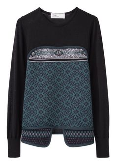 Toga Archives Jacquard Knit Sweater