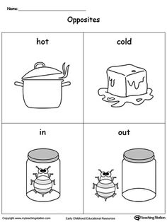 math worksheet : list opposites for preschoolers printable worksheets  opposites  : Hot And Cold Worksheets For Kindergarten