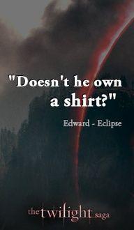 Edward's sense of humour<3