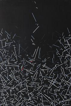 "thunderstruck9: ""Beppe Bonetti (Italian, b. 1951), Metarazionalità, 2016. Acrylic on canvas, 75 x 50 cm. """