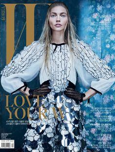 shine on you: sasha pivovarova by emma summerton for w korea december 2015 | visual optimism; fashion editorials, shows, campaigns & more!