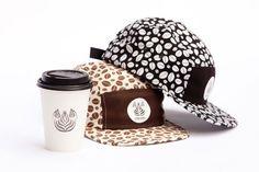 Chari & Co NYC Streamer Coffee 5-Panel Caps