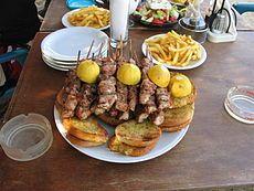 Culinária da Grécia  - Souvlaki