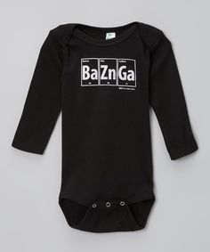 It's been scientifically proven that there's nothing as adorable as a giggling little one sporting big-bang style. With its cuddly lap neck and graphic inspired by the origins of the universe, this soft cotton-blend bodysuit is sure to keep them smiling all day. 60% polyester / 40% cottonMachine washImported