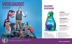 Overloaded? Power through with MelaPower 9x from EcoSense – exclusive formula lifts out dirt and fights even the toughest laundry stains Melaleuca, Green Cleaning, Helping People, Counting, Biodegradable Products, Laundry, Stains, Wellness, Good Things