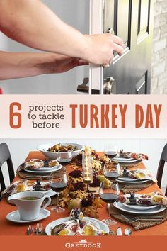 Thanksgiving is a few short weeks away! Is your home ready? Here are six quick and easy projects you can tackle to get your home ready for turkey day. #homeimprovement #homedecor