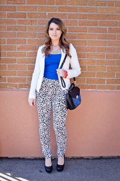My first outfit of the day post up on the blog! www.amodachic.com , leopard and royal blue- my favourite combination! :)