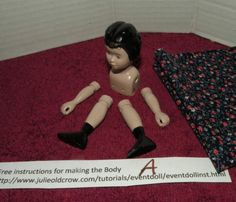 A.) Painted Hitty Resin Kit from Julie Old Crow's NCH Retreat Event Doll