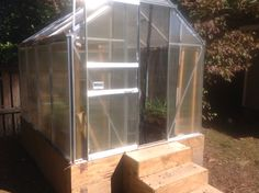 My harbor freight green house before painting November 8, 2015