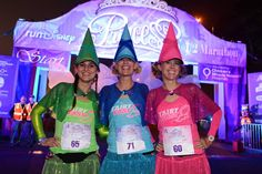 Flora, Fauna and Merriweather Run Disney costume. Team Costumes, Run Disney Costumes, Running Costumes, Disney 5k, Disney Races, Disney Ideas, Disney Bound, Disney Magic, Three Person Halloween Costumes