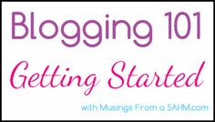 Blogging 101: Why You Should Blog and How to Name Your Blog