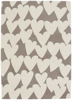 Hable Construction Confectionary Valentine Machine Tufted Brown/Beige Area Rug