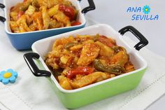 Bacalao ajoarriero cocina tradicional Ana Sevilla Spanish Dishes, Spanish Food, Bacalao Recipe, Fish And Seafood, Kung Pao Chicken, Chicken Wings, Recipies, Food And Drink, Menu