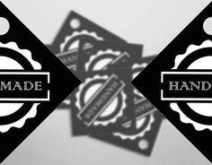 Tags handmade Etichette decorative Black White