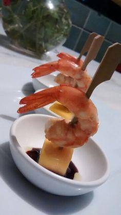 Camarão Thai com molho teriaki