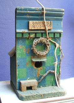 Birdhouse made from recycled fence boards
