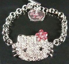 Hello Kitty Crystal Bling Bracelet Fashion jewelry Sparkle Cute   eBay