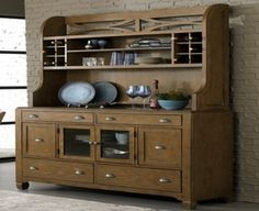 Swiss Pine Buffet And Hutch Farmhouse Kitchen French Country Using Country Kitchen Hutch And Buffet Type