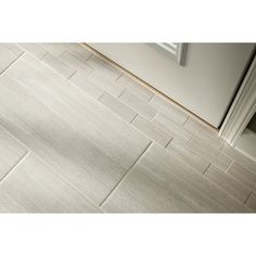 Shop Style Selections Leonia Silver Glazed Porcelain Indoor/Outdoor Floor Tile (Common: 12-in x 24-in; Actual: 11.75-in x 23.75-in) at Lowes.com