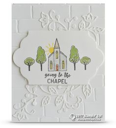 """CARD I can't look at this card and not sing along with it, """"going to the chapel and we're gonna get marrrrrrried..."""" lol. Now I've got it stuck in my head, I'll be singing it all day long. The card is gorgeous! Created with the new Stampin Up In the City Hostess stamp"""