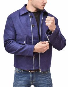 Ground your looks with our Spectre James Bond Daniel Craig Lake Blue Wool Jacket . Get this jacket and enjoy Extra Discount with Free Shipping! Daniel Craig James Bond, Motorcycle Jackets, Blue Wool, Wool Blend, Shirt Style, Bomber Jacket, Free Shipping, How To Wear, Collection