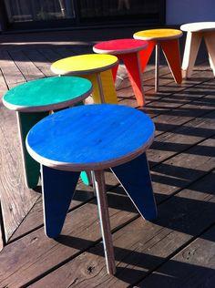 ripple mark designs「color stool (ocean)-short size」