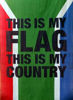 A flag in Soweto Footprint, South Africa, Flag, Country, Quotes, Quotations, Rural Area, Science, Country Music