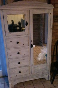 Refinished antique armoire....love!