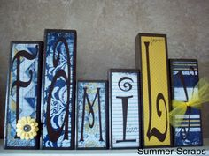 Family Reunion Crafts | ... Family. So I created this Family block set (which is also available in