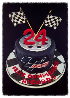 24th birthday Moto GP tyre cake
