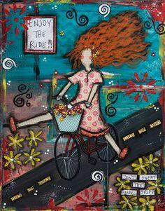 Enjoy the Ride  Mixed Media Fine Art Print by KaraBullockArt, $20.00