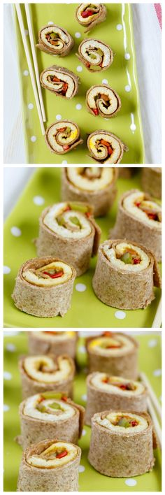 FOOD - Breakfast Burrito Bites. Finger food for kids- with healthy eggs and peppers. http://www.superhealthykids.com/finger-food-breakfast-burrito-bites/