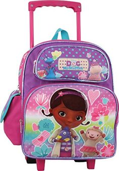 Disney Doc McStuffins 12 Toddler Rolling Backpack ** To view further for this item, visit the image link. Mickey Mouse Parties, Mickey Mouse Birthday, Frozen Birthday, 2nd Birthday, Minnie Mouse, Best Kids Backpacks, Girl Backpacks, Girls Luggage, Disney Luggage