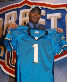 The Jacksonville Jaguars selected Marshall QB Byron Leftwich in the 1st Round (#7 overall) of the 2003 NFL Draft.