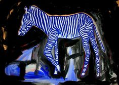Buy Blue zebra, Acrylic painting by Lopéz García on Artfinder. Discover thousands of other original paintings, prints, sculptures and photography from independent artists.