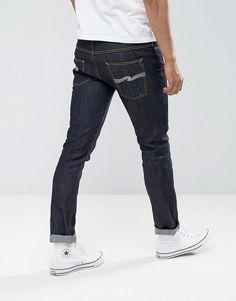 f6eefa8c19 Nudie Jeans Ecru Embro Thin Finn Slim Fit Jeans in Organic Dry - Blue Nudie  Jeans