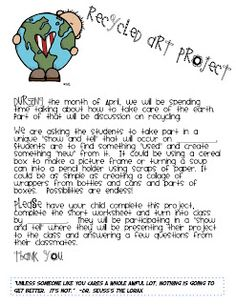 Classroom Freebies Too: Earth Day Project