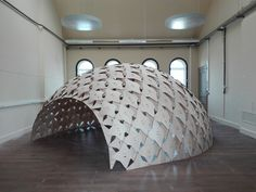 """Image 34 of 46 from gallery of Architects Create Affordable """"Exoskeleton"""" Pavilion With Modular Woods, Tie Straps and Sliding Joints. Courtesy of Jeroen Christiaen & Saskia De Mol"""