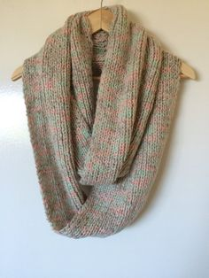 Hand Knitted ScarfInfinity ScarfLong ScarfLadies by MarianaPandi