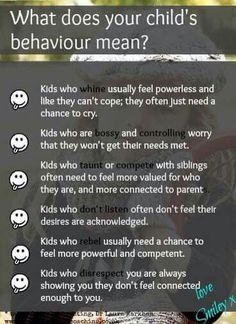 Child Behavior Language - what they really mean!